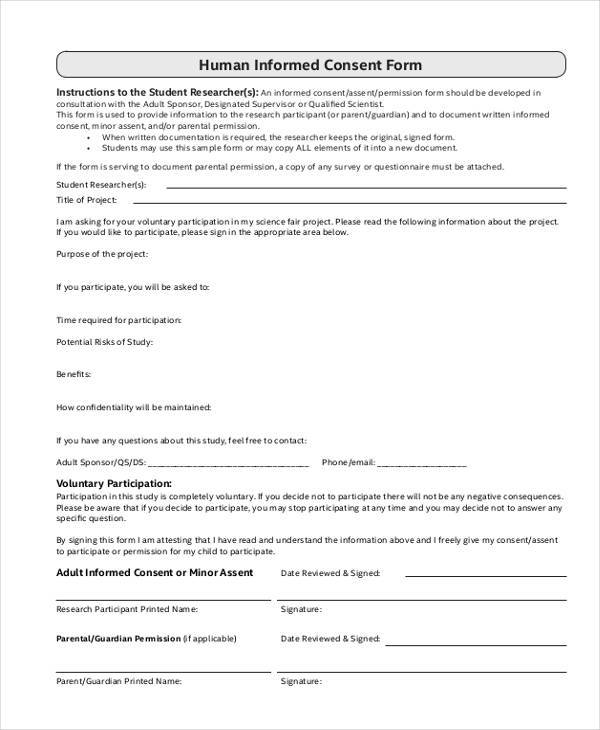 human informed consent form1