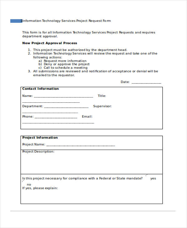 it project request form