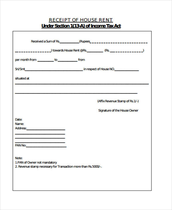 Printable Receipt Form | Printable Receipt Forms 41 Free Documents In Word Pdf