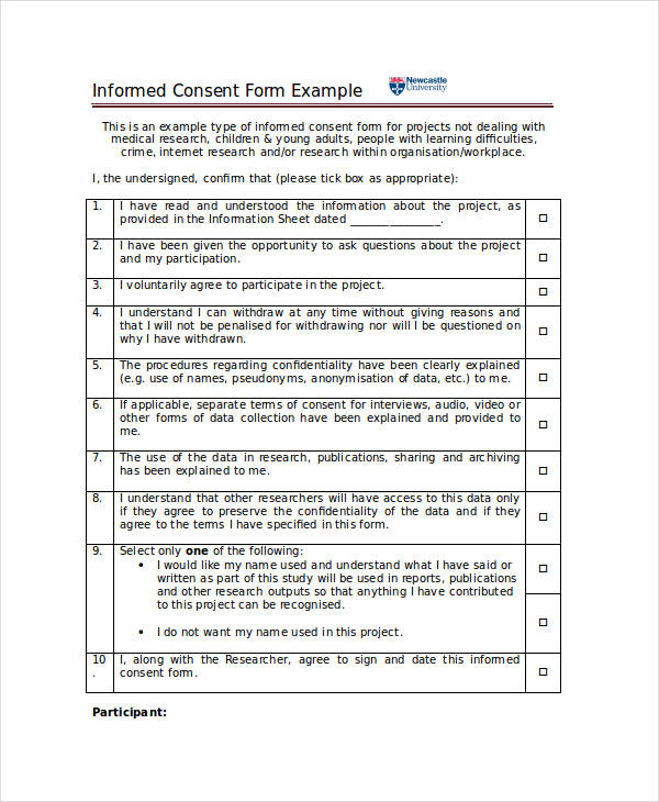 Informed Consent Form Example