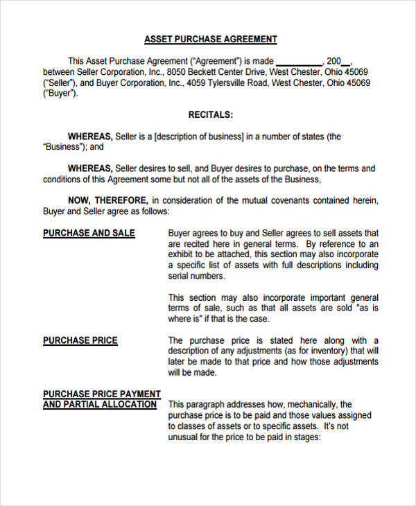 instalment purchase agreement form