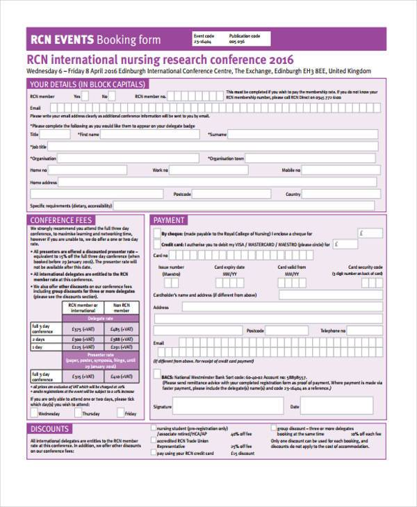 international nursing registration form