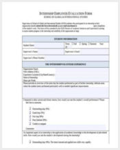 internship employer evaluation form