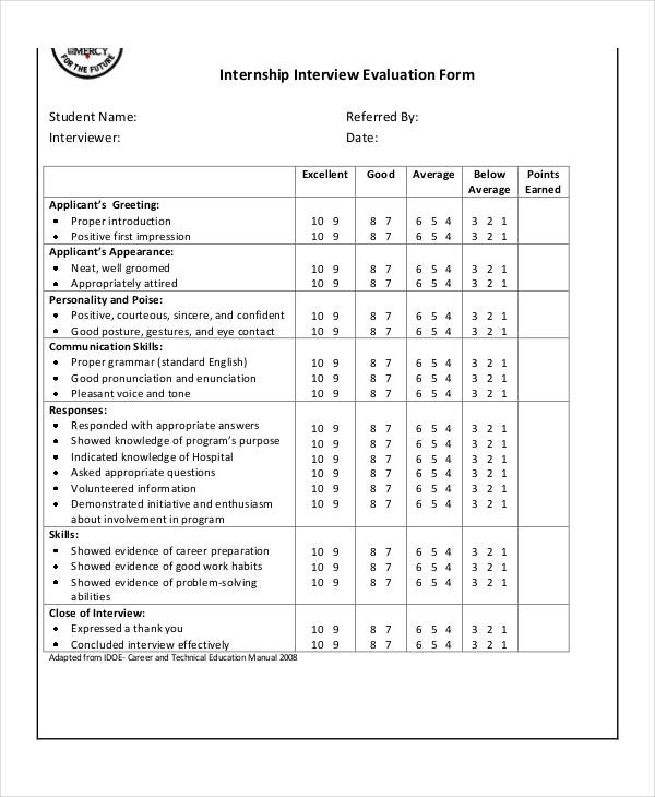 Interview Evaluation Form  BesikEightyCo