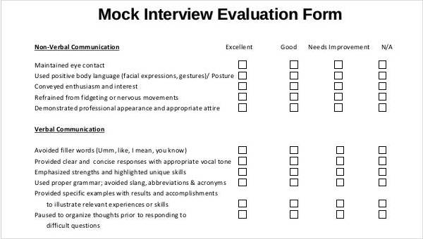 Sample Interview Score Sheet Template from images.sampleforms.com