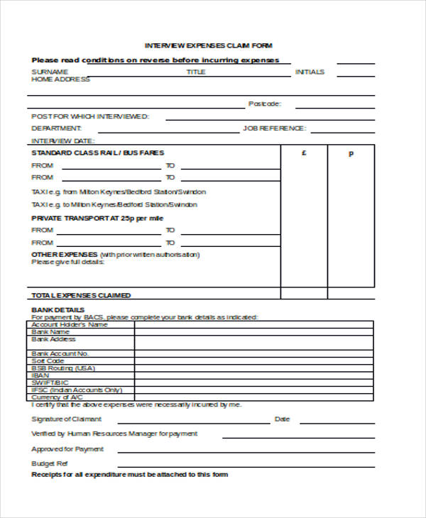 Claim Form In Word. Straight Bill Of Lading Short Form 11 Best