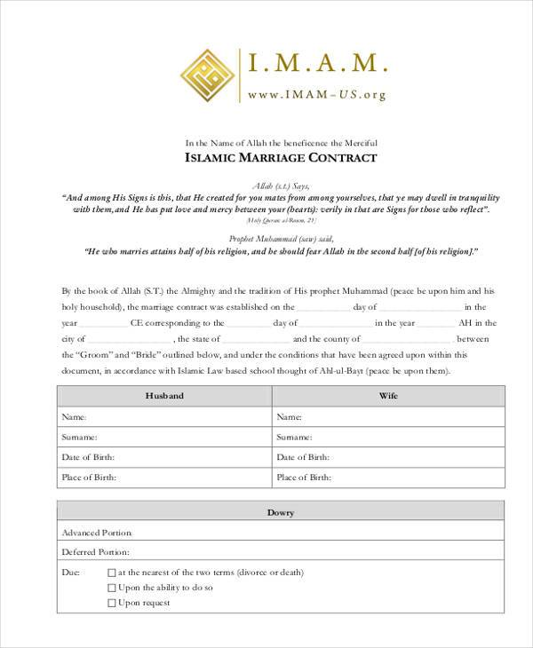 islamic marriage contract form1
