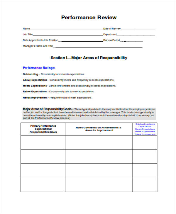 job performance review form2