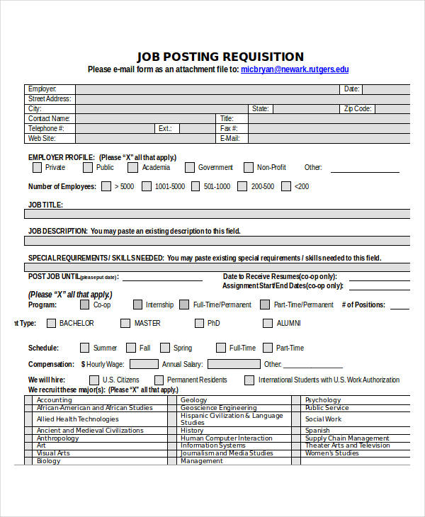 job posting requisition form2