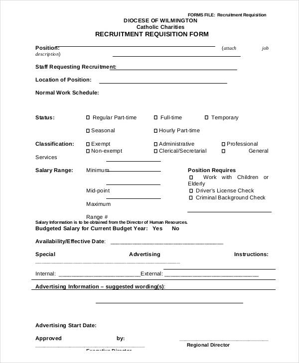 job recruitment requisition form1