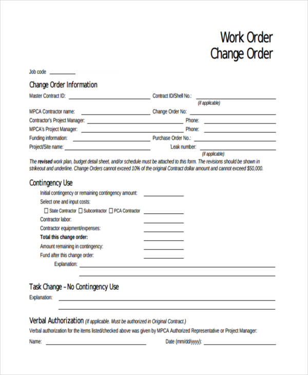 job work change order form1