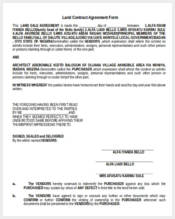 land contract agreement form1