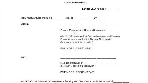 Free 35 Loan Agreement Forms In Pdf