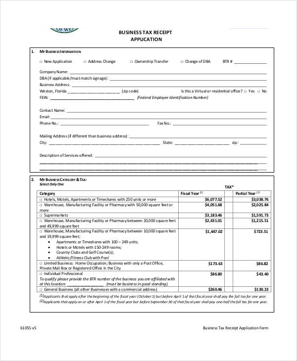 local business tax application