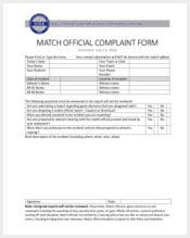 match official complaint form1