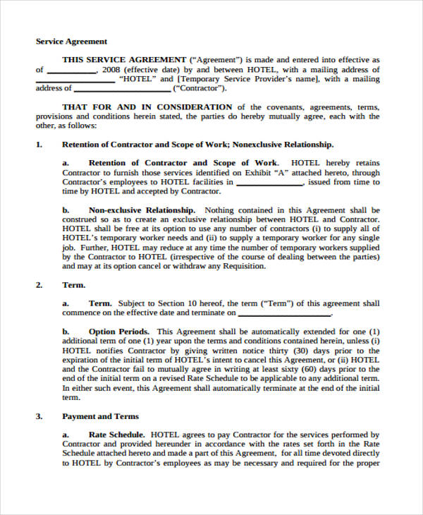 manpower temporary service agreement form1