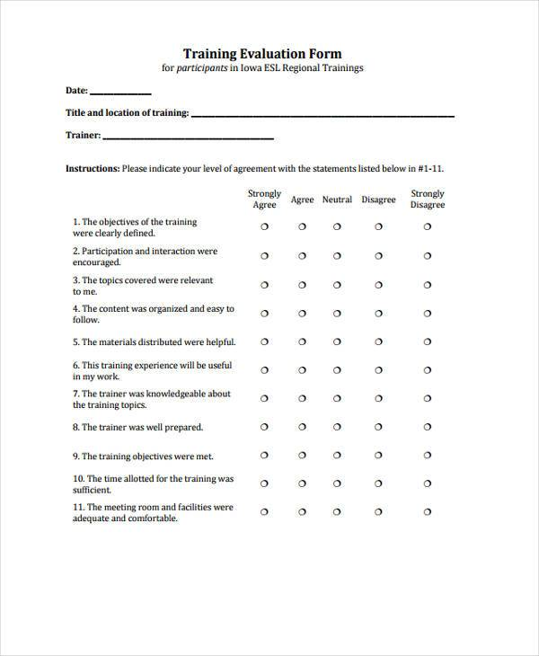 Sample Evaluation Forms Oral Presentation Evaluation Form Sample