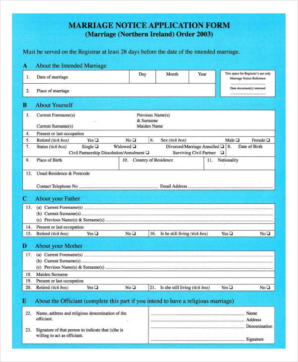 marriage notice application form1
