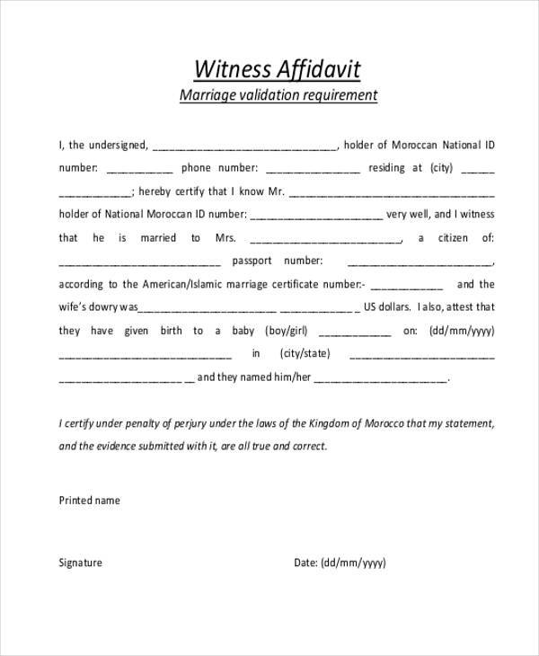 Affidavit Form Template – Affidavit Sample Format