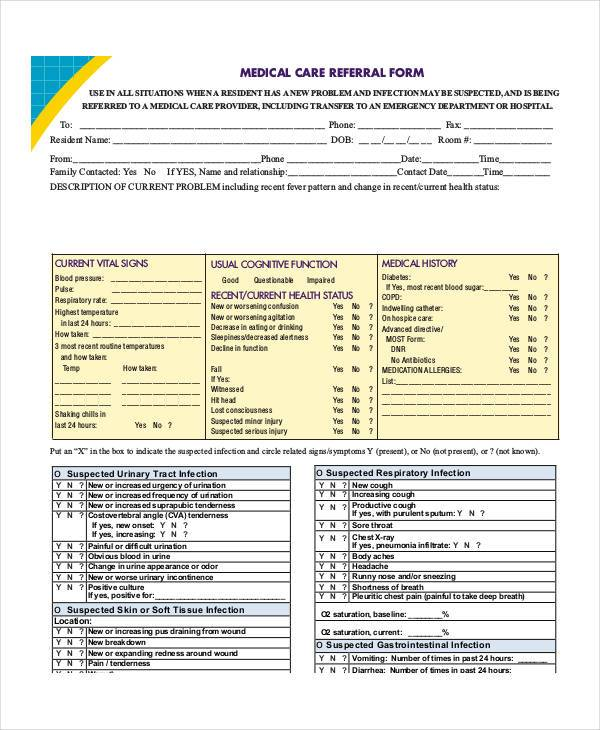 medical care referral form