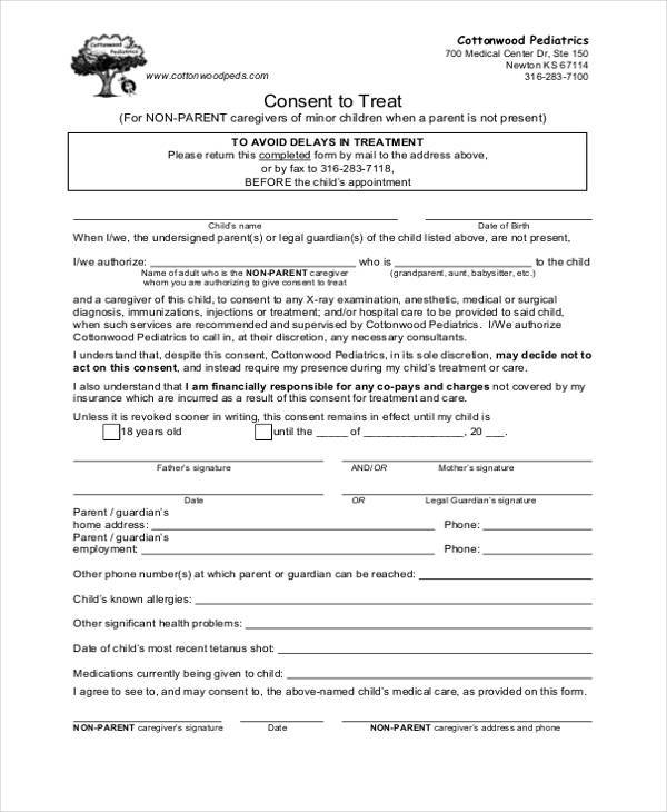 Medical Release Form For Grandparents  BesikEightyCo