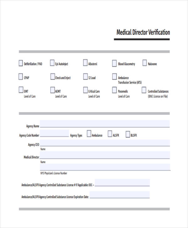 medical director verification form1