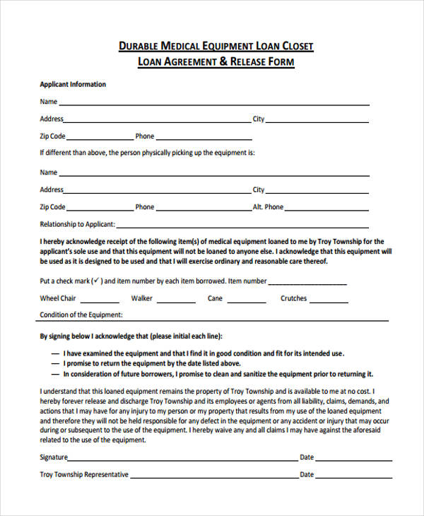 40 printable loan agreement forms. Black Bedroom Furniture Sets. Home Design Ideas