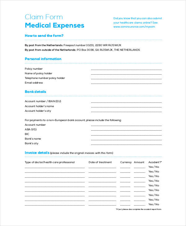 medical expense claim form3