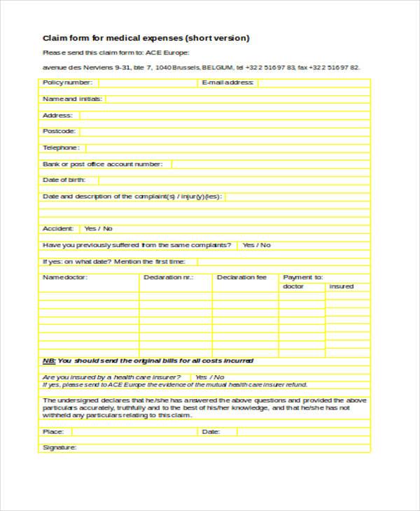 medical expense claim form6