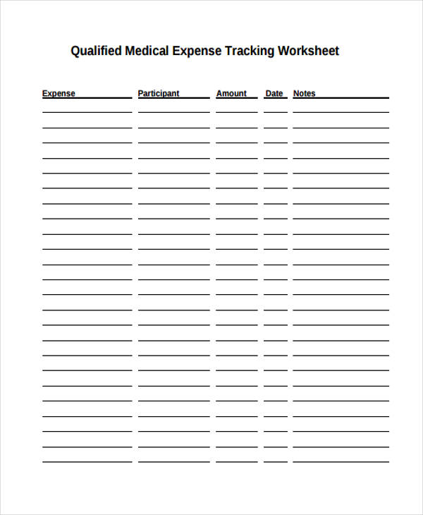 medical expense tracking form1