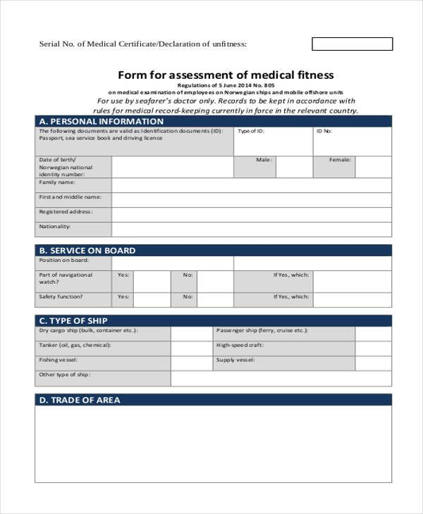 Medical Report Forms