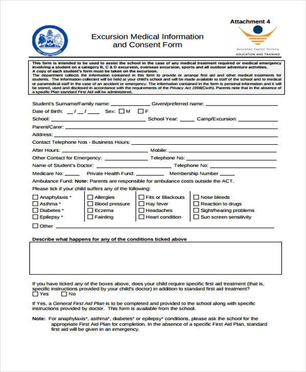 Emergency Medical Information Template Vosvetenet – Medical Authorization Form Template