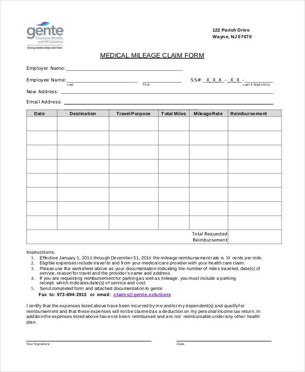 Claim Forms In Pdf