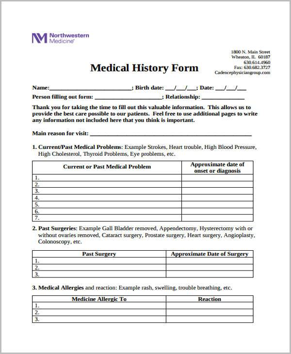 photograph relating to Free Medical Forms identified as Absolutely free 39+ Printable Health care Types PDF