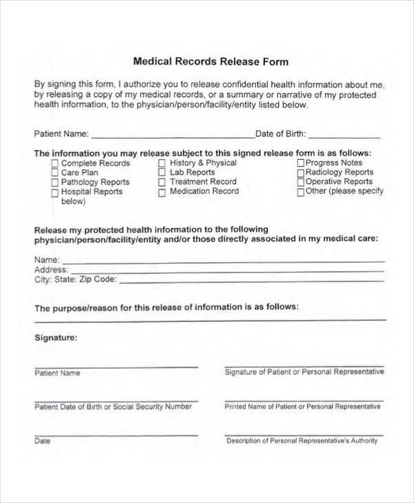 medical records release form1