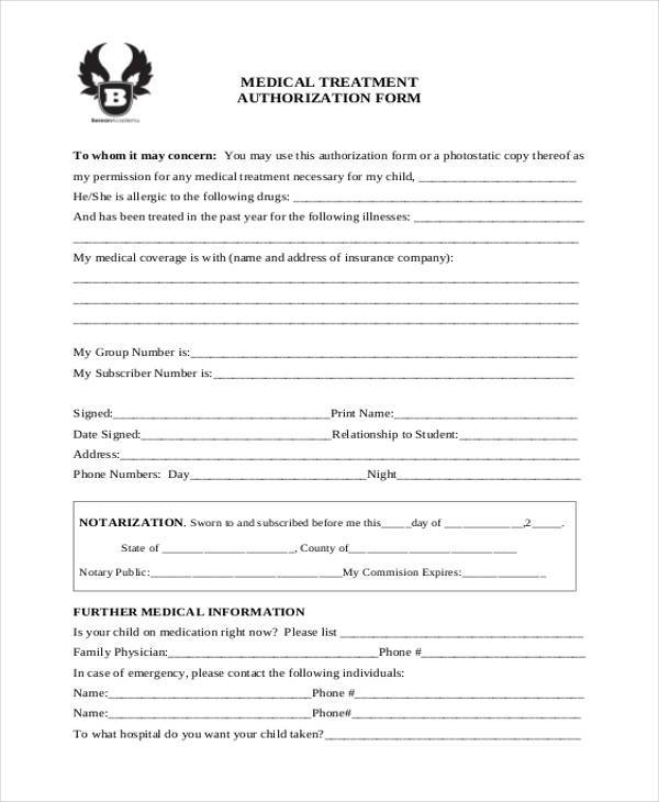 medical treatment authorization form1