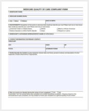 medicare quality of care complaint form1