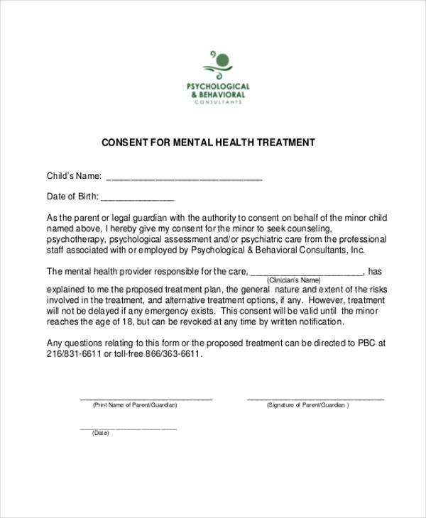 mental health consent form1