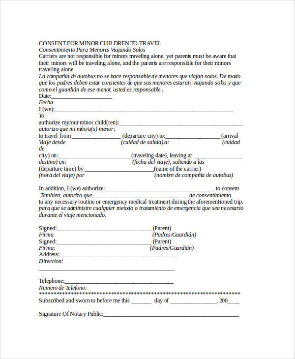 minor child travel consent form1