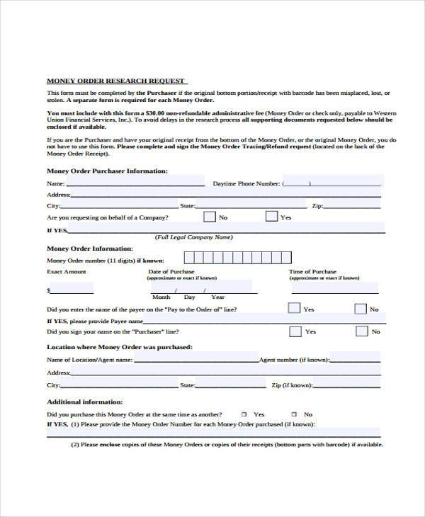 Money Request Form  BesikEightyCo