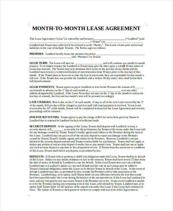 40 Sample Lease Agreement Forms