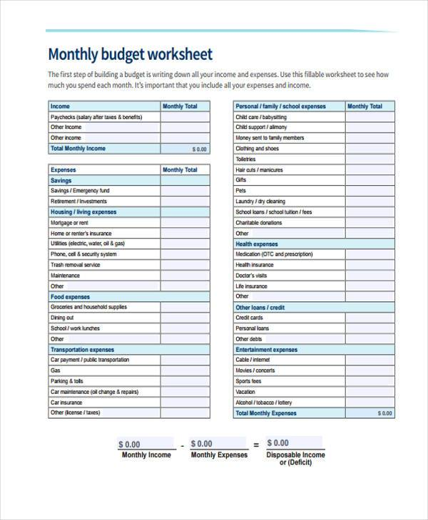 free 41  budget forms in pdf