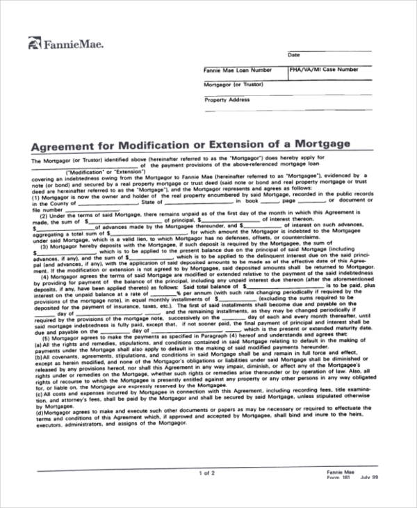 Free Loan Agreement Form – Mortgage Agreement Form