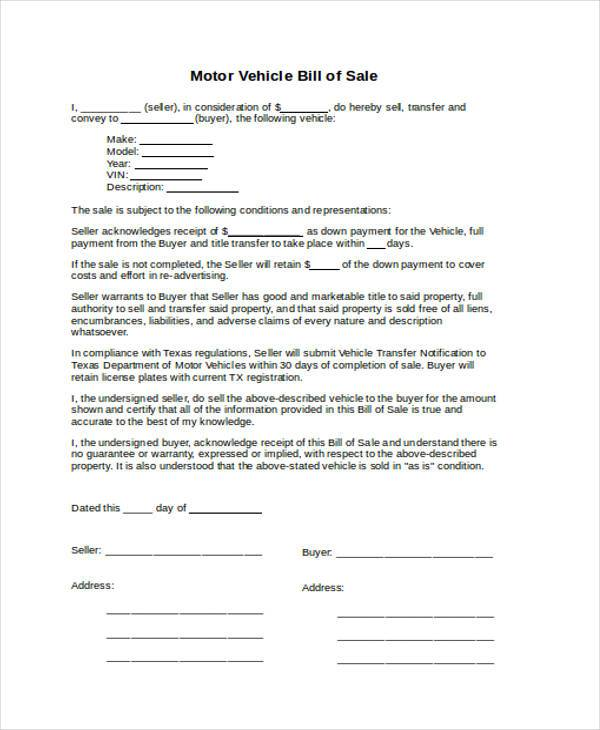 free 36  bill of sale forms in ms word
