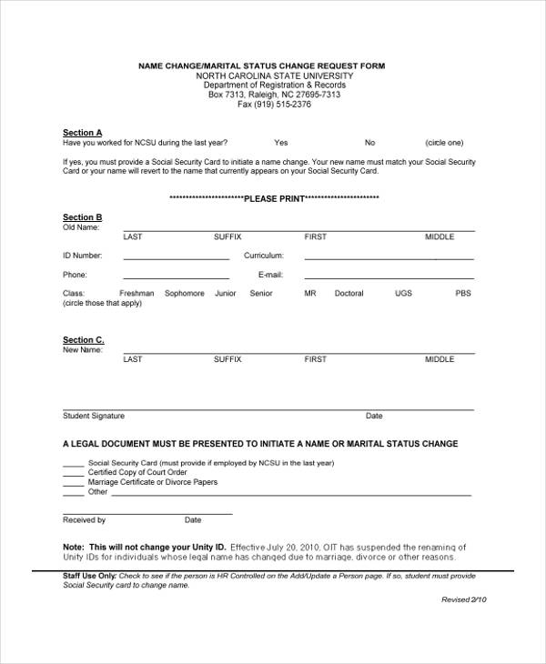 name change request form1