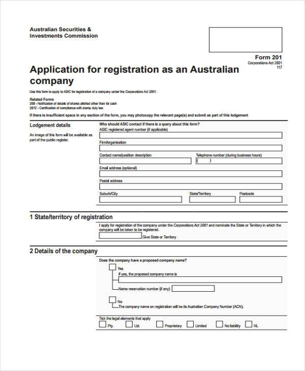 New Company Registration Form