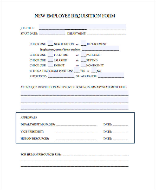 new employee requisition form1