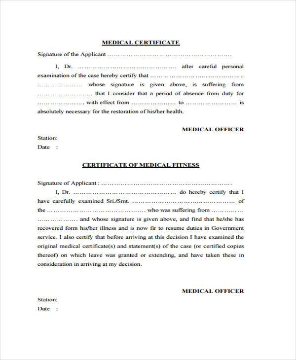 FREE 40+ Sample Certificate Forms | PDF Medical Certificate Form Doh on medical tar form 2014, notice form, medical request form, medical verification form, medicare certification form, medical transfer form, roof inspection report blank form, lease agreement form, medical school form, medical transcript form, medical declination form, medical affidavit form, certification request form, medical paper form, waiver form, leave of absence form, medical exam form, medical education form, medical physical for firefighters,