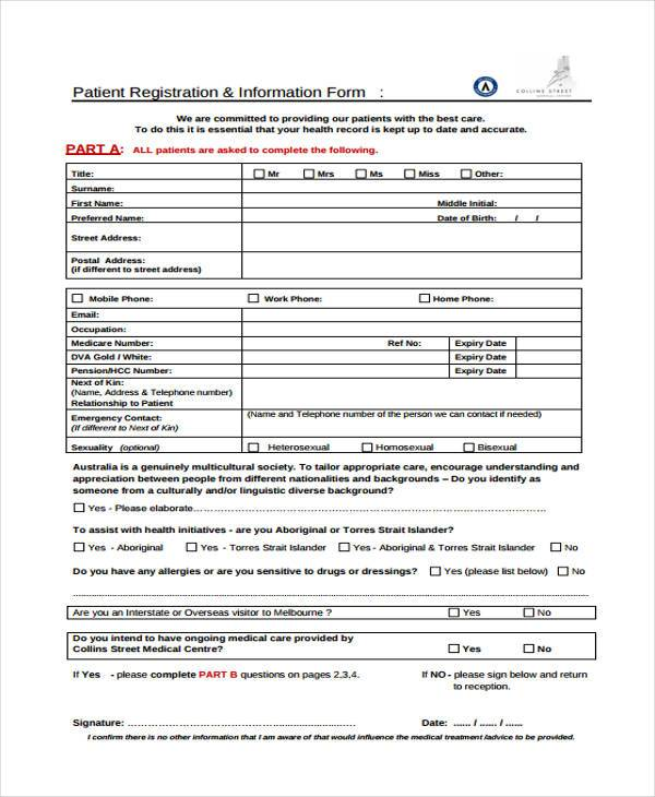 free 39  printable medical forms