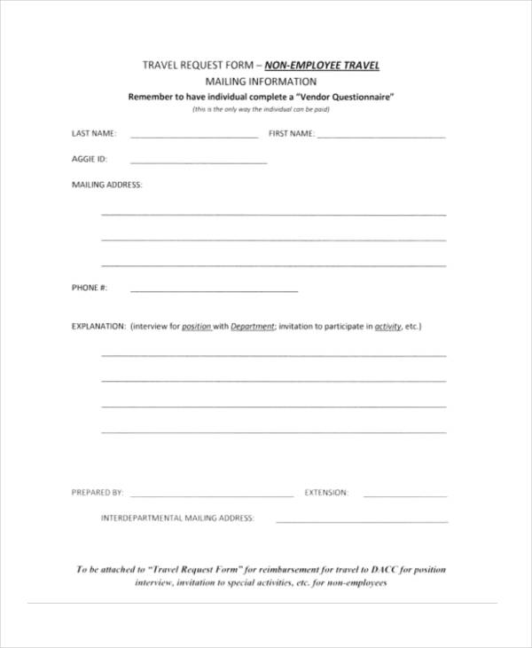 non employee travel request form1